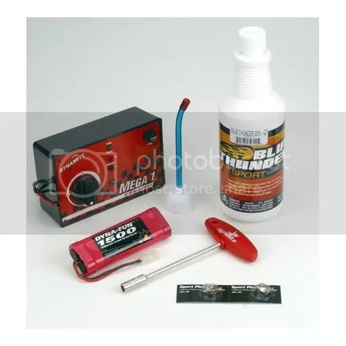 Traxxas RC car gas pack starter set