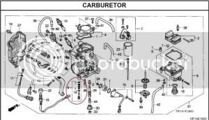 wheres the fuel screw on 05  Honda TRX Forums: Honda TRX 450R Forum