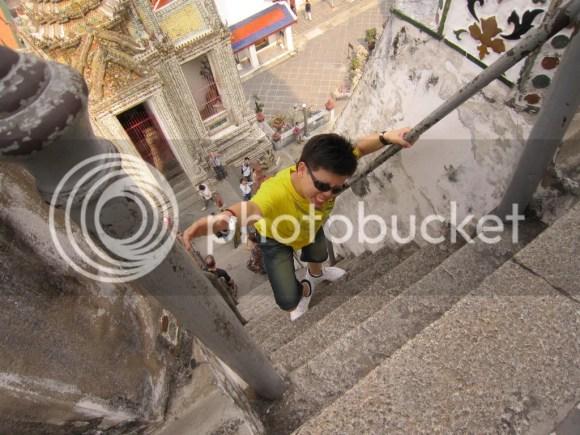 Johnny climbs