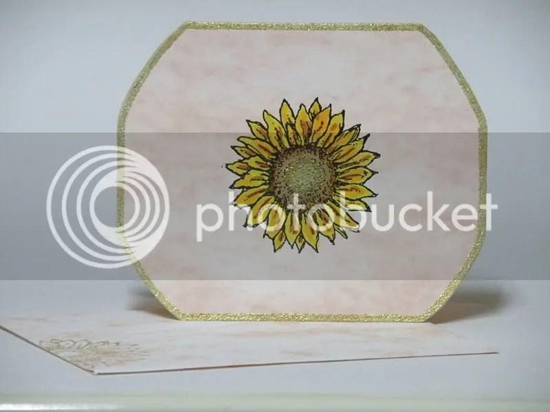 embossed sunflower notecard