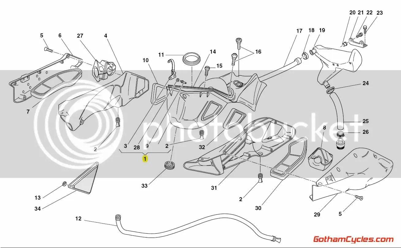 Ducati Airbox Yellow 998 Superbike 998 998s Bostrom