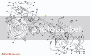 Ducati Rear ECU Wiring Harness Biposto: 748996 SUPERBIKE