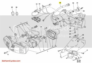 Ducati Front Wiring Harness: 996R998 SUPERBIKE 996R 998