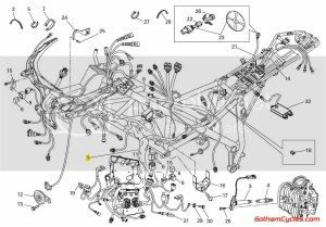 Ducati Main Wiring Harness for DTC Traction Control: 1198