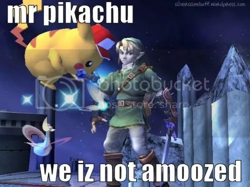 mr pikachu we iz not amoozed