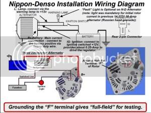 Grenade to Denso alternator wiring 650 update  Soviet Steeds