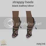 SH Black Leather Silver