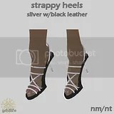 SH Silver Black Leather