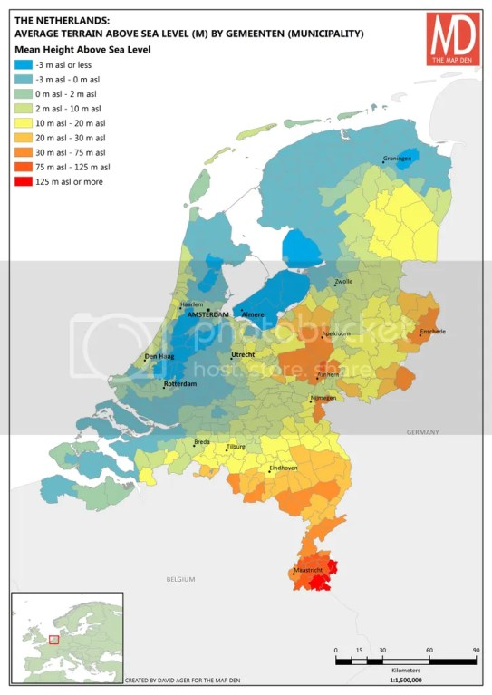 Netherlands Average Height Above Sea Level