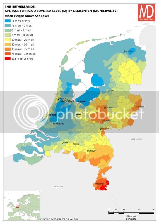 Netherlands Average Height Above Sea Level