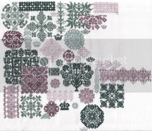 1x1 on 35 ct weddigen linen using HDF silks