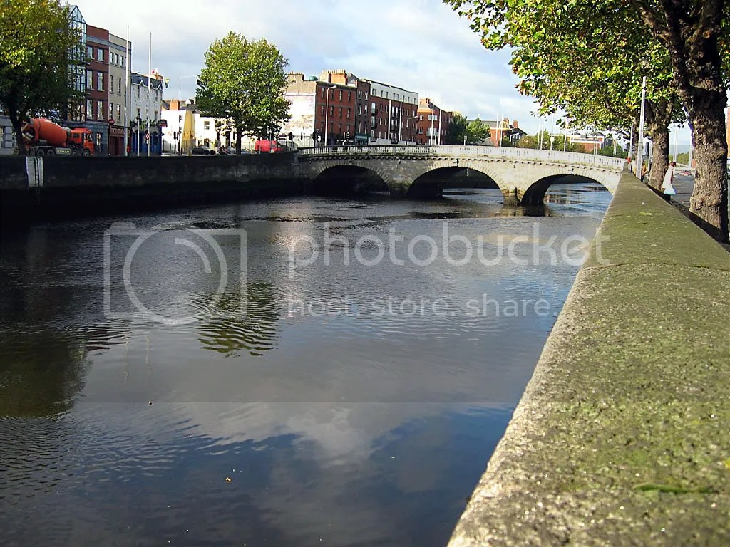 The Liffey river in Dublin on a nice afternoon
