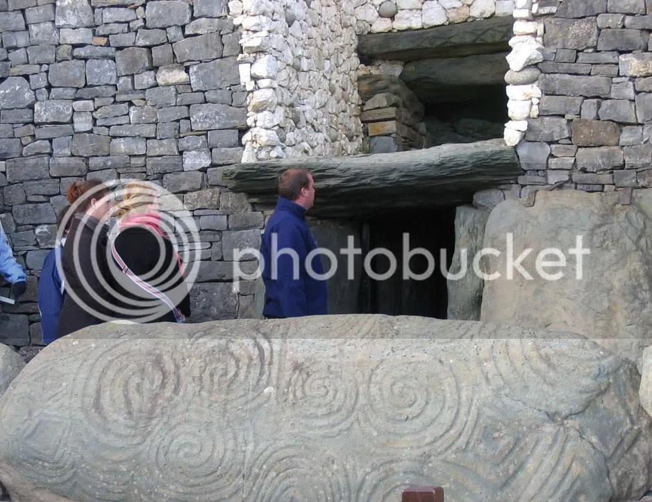 The entrance to the Newgrange tomb.