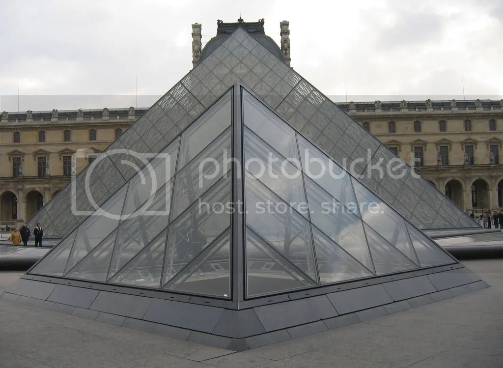 Louvre entrance..you might remember these from Dan Brown's book The DaVinci Code