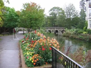 A picturesque walkway along a river in Salisbury