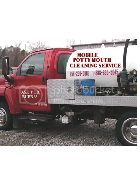 mobile potty mouth cleaning service