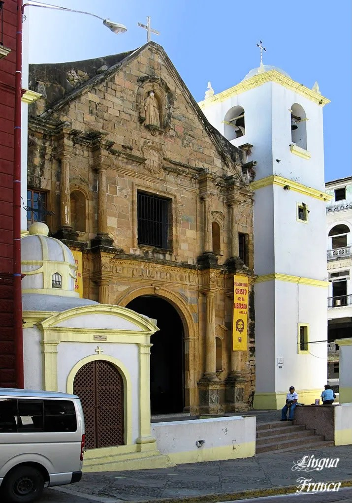 Photograph of Iglesia de la Merced located at Casco Viejo, Panama City, Panama.  (Credit:  Omar Upegui R./Michael Moore)