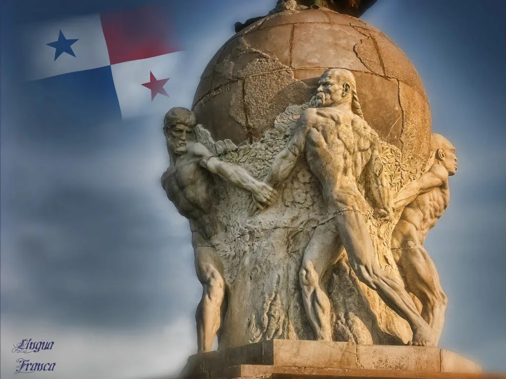 Another patriotic creation of the statue of Vasco Nuñez de Balboa by Michael Moore.  (Credit:  Omar Upegui R./Michael Moore)