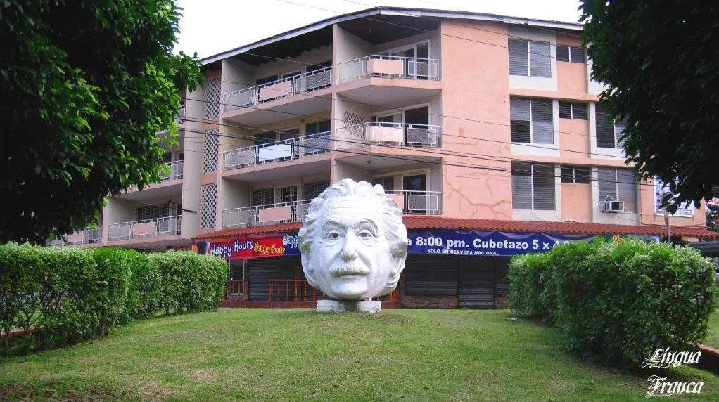 Picture of the small park dedicated to the memory of Albert Einstein in Panama City, Panama.  (Credit:  Omar Upegui R.)