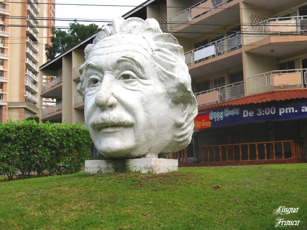 A closer view of the statue of Albert Einstein.  The similarity to the real person is striking, specially his fallen eyes.  (Credit:  Omar Upegui R.)