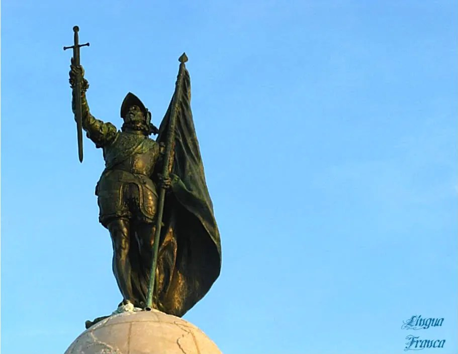 Photograph of the bronze statue of Vasco Nuñez de Balboa donated by the King of Spain to the Republic of Panama.  (Credit:  Omar Upegui R.)