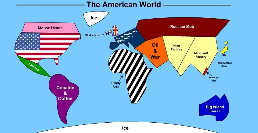 The American World Map Lingua Franca - America world map