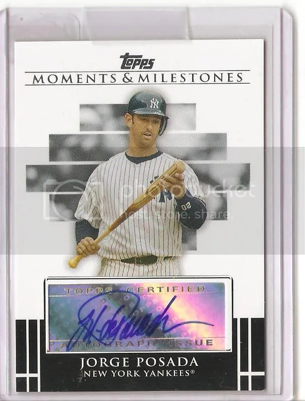 2008 Topps Moments and Milestones Jorge Posada Auto