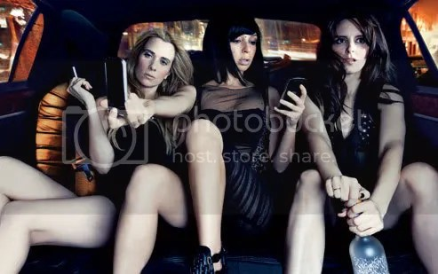 Kristen Wiig, Maya Rudolph, and Tina Fey photographed by Annie Leibovitz from Vanity Fair