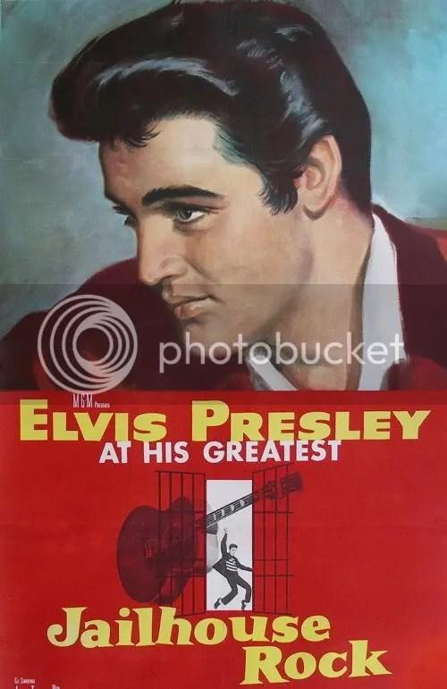 Foto de Elvis Presley em Jailhouse Rock.