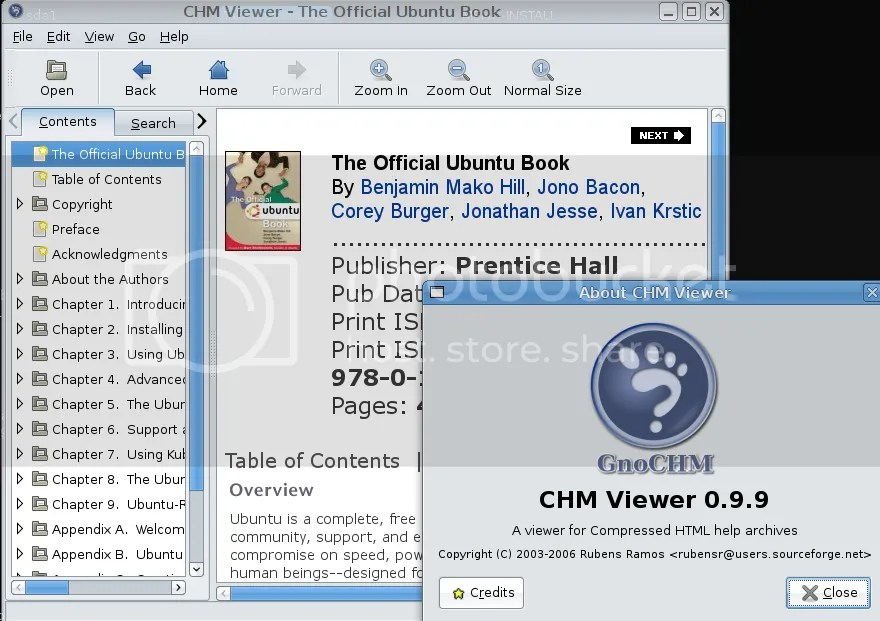 gnochm screenshot