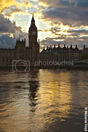 Palace of Westminster at sunset