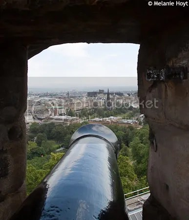Cannon at Edinburgh Castle