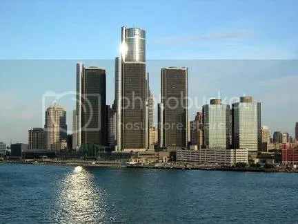 The Renaissance Center, GMs headquarters, has come to symbolize the modern Detroit skyline.  In parallel with the decline of the American auto industry, the surrounding city has suffered blight and only modest redevelopment in very limited areas.