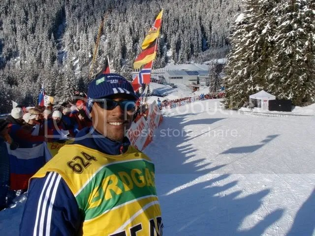 Ross Flowers, USOC Sports Psychology consultant, enjoying the Antholz weather