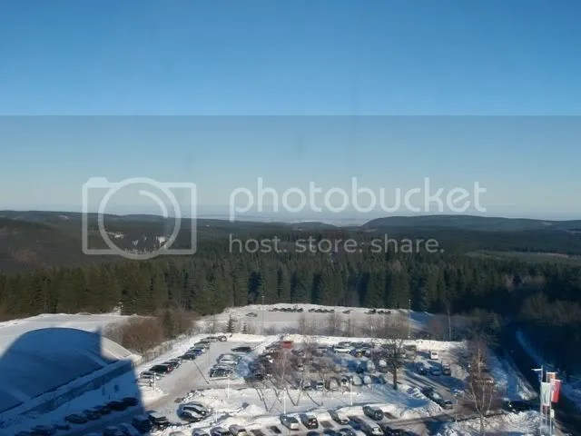 The view of the Thuringen region from my hotel room in Oberhof