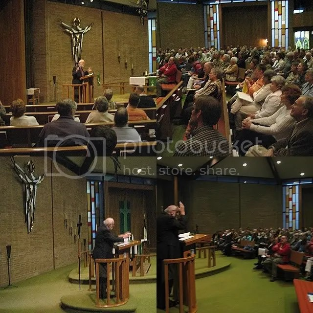 Dr. Walter Brueggemann speaks at Bethany Lutheran Church in Ishpeming, Michigan