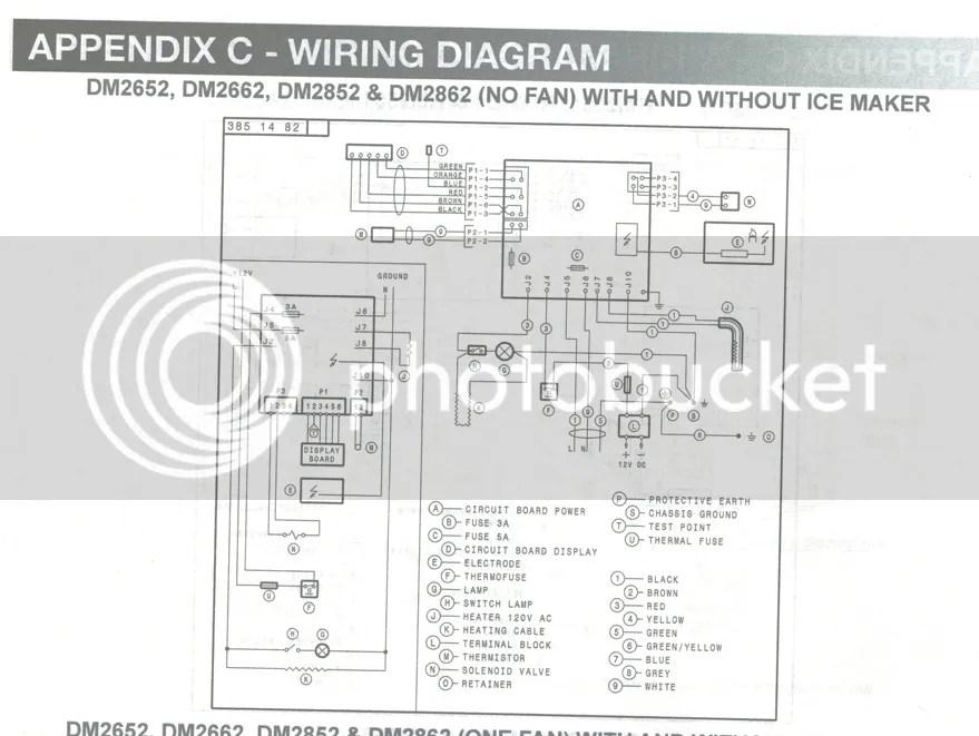 on a diagram for dometic refrigerator control board a