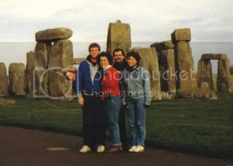 Dominican students at Stonehenge, circa 1985