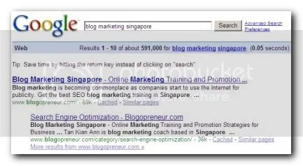 blog marketing singapore