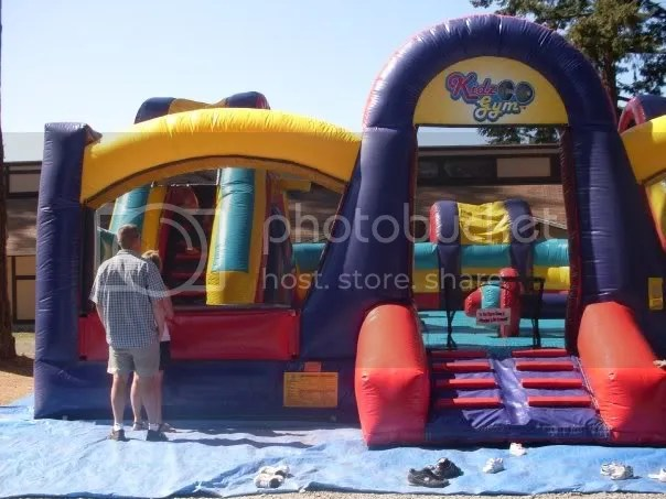 Possibly the biggest bouncy castle EVER!