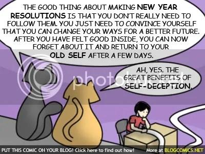 New Year Resolution - Self Deception
