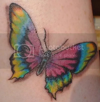 Rainbow tattoos are also gaining popularity among women.