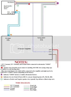 4 Channel Amp Wiring Diagram  Chevrolet Colorado & GMC