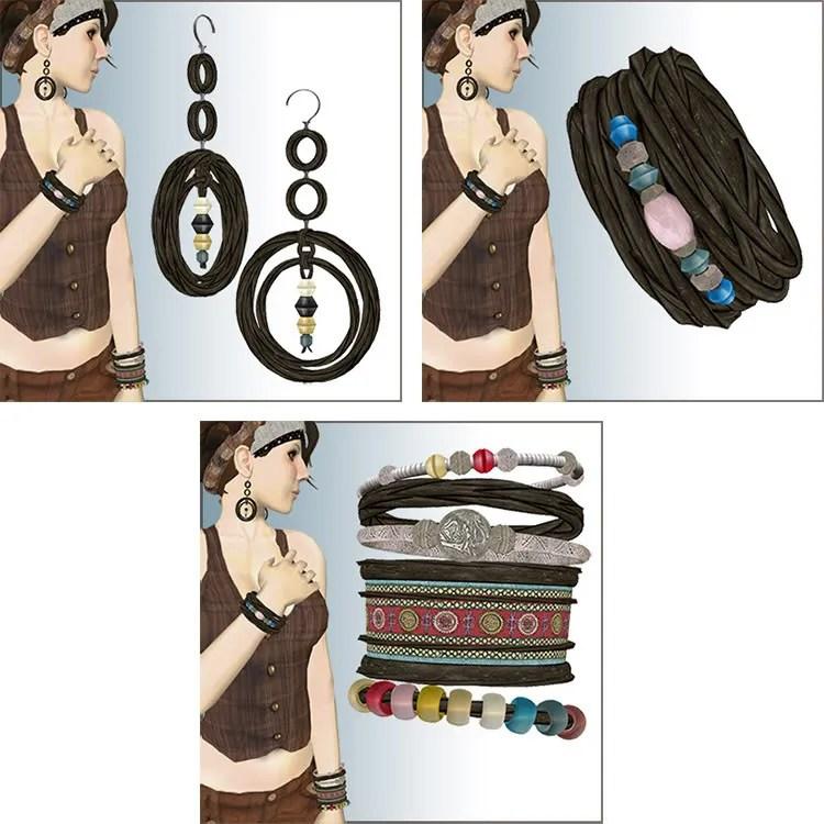 black braid jewelry