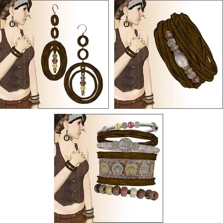 brown braid jewelry