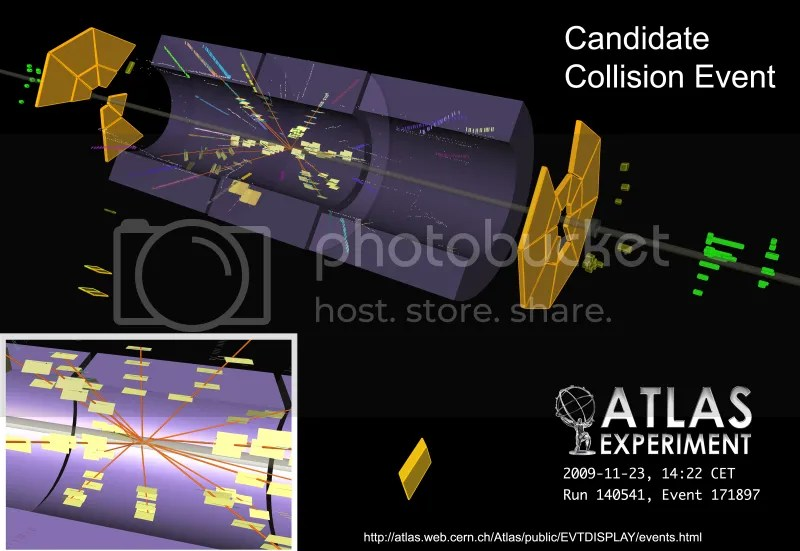 LHC first collision [ATLAS]