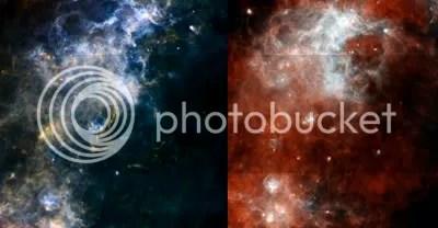 Herschel SPIRE and PACS images