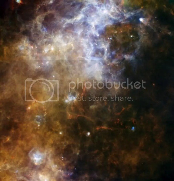 5 colour Herschel image of part of our galaxy