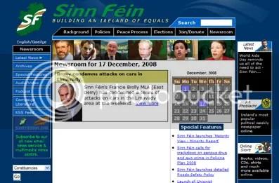 Sinn Féin website
