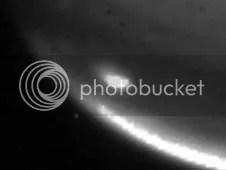 Infrared image of Jupiter impact